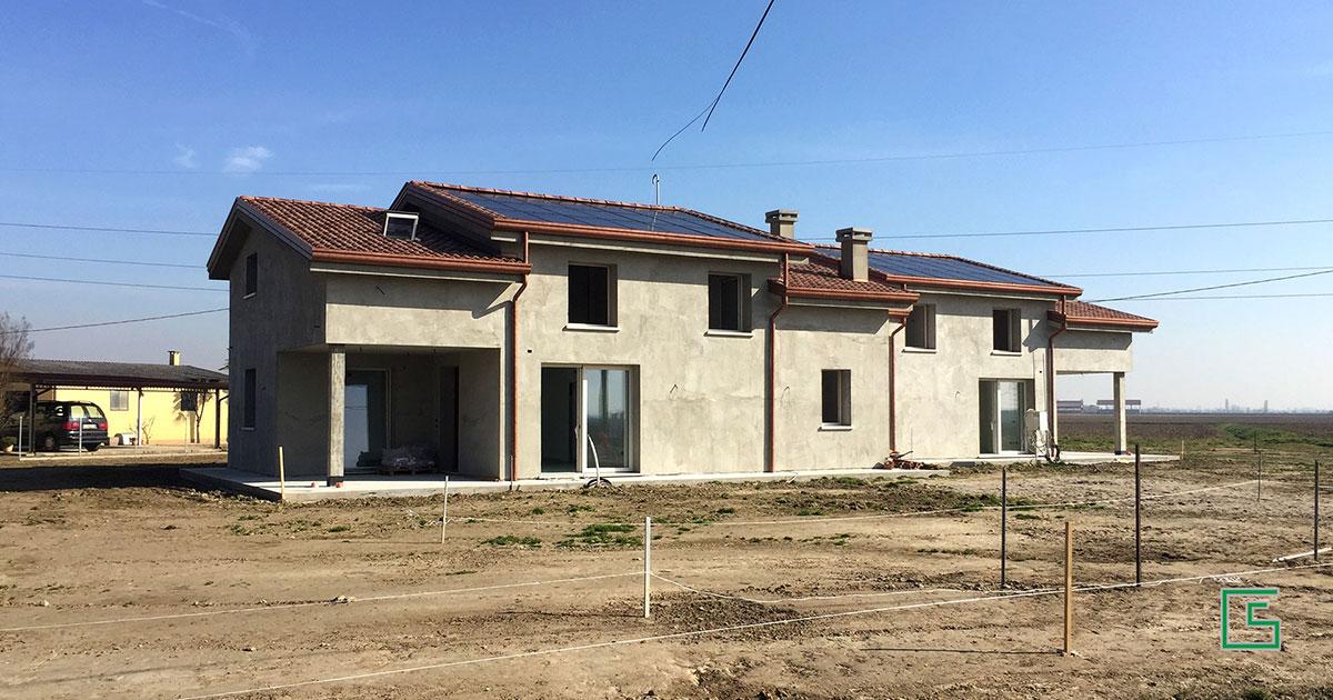 Bifamiliare Bovolenta Nuova costruzione a cura dello studio tecnico geometra Schiavon
