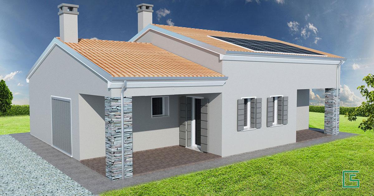 Casa singola Candiana nuova costruzione studio tecnico geometra Schiavon