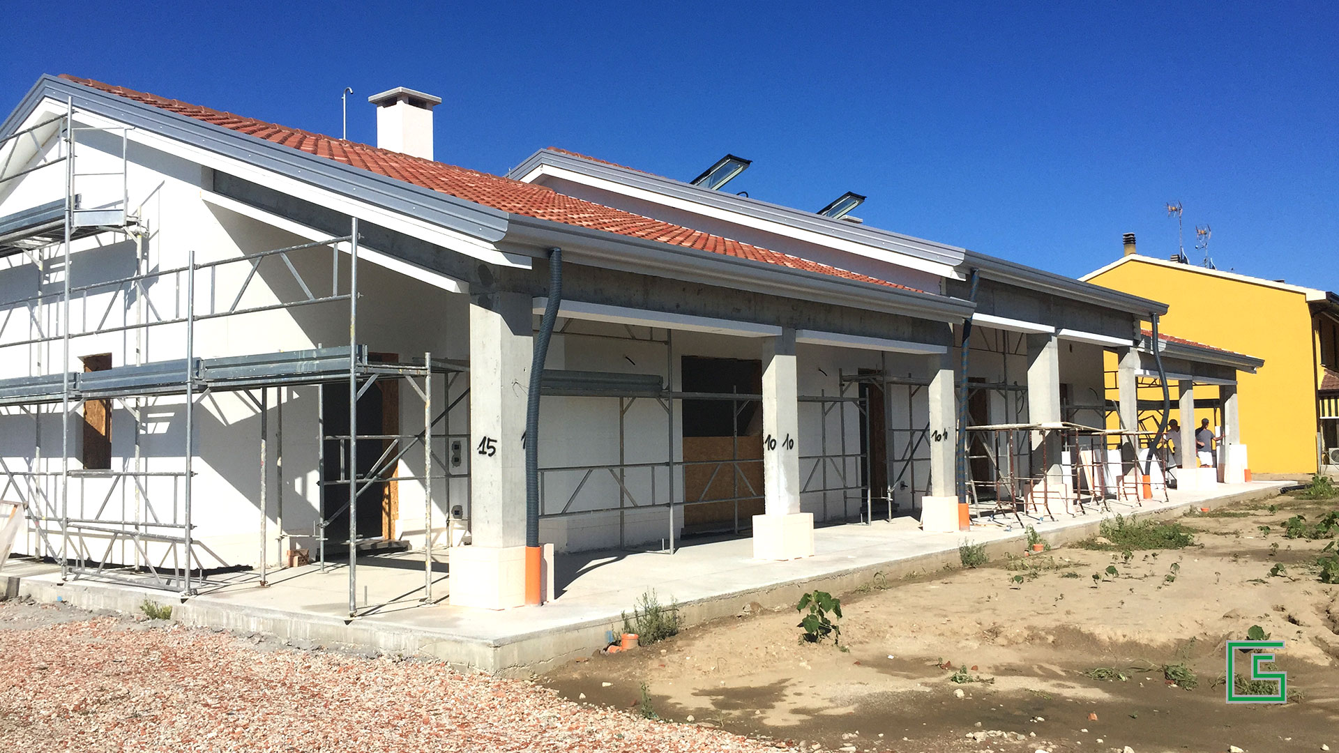 Bifamiliare Candiana Demolizione e nuova costruzione a cura dello studio tecnico geometra Schiavon