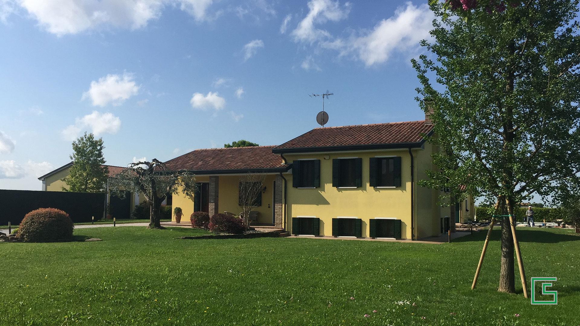 Casa singola Candiana demolizione e ricostruzione studio tecnico geometra Schiavon