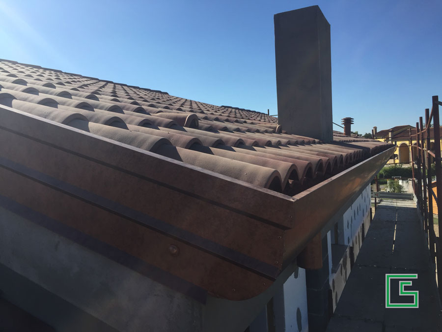 Copertura Bifamiliare Bovolenta Nuova costruzione a cura dello studio tecnico geometra Schiavon