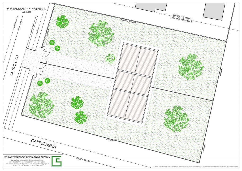 Sistemazione esterna Bifamiliare Vallonga Arzegrande da realizzare offerte dello Studio Tecnico Geometra Schiavon Piove di Sacco